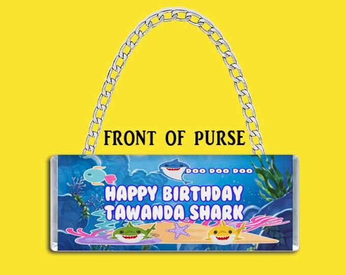 Shark Candy Bar Purse - Candy Bar Clutch Purse - Purse Party Favor - Custom Party Favors - Candy Bar Purse - Party Printable - Digital