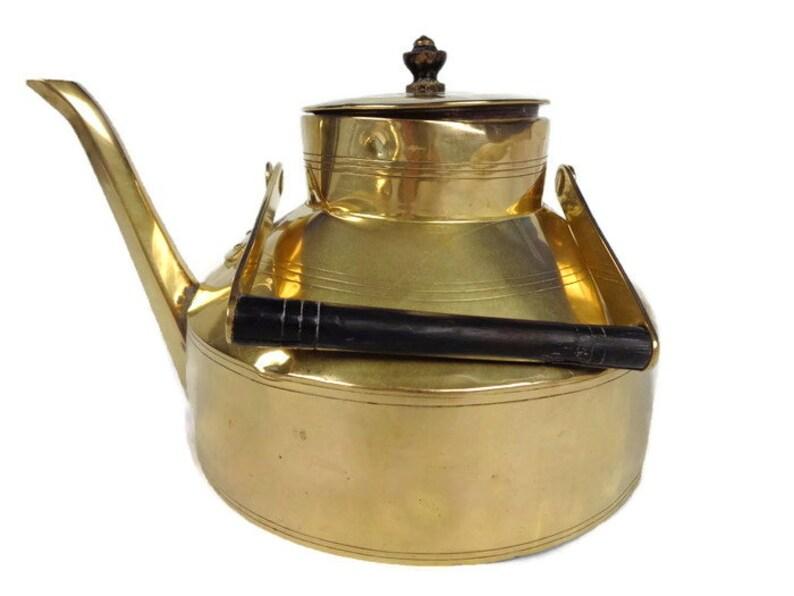 Large Brass Tea Pot Vintage Kettle