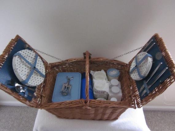 Brexton wicker picnic basket