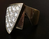 Vintage Retro 14K ring, 15 diamonds 2.25 carat weight