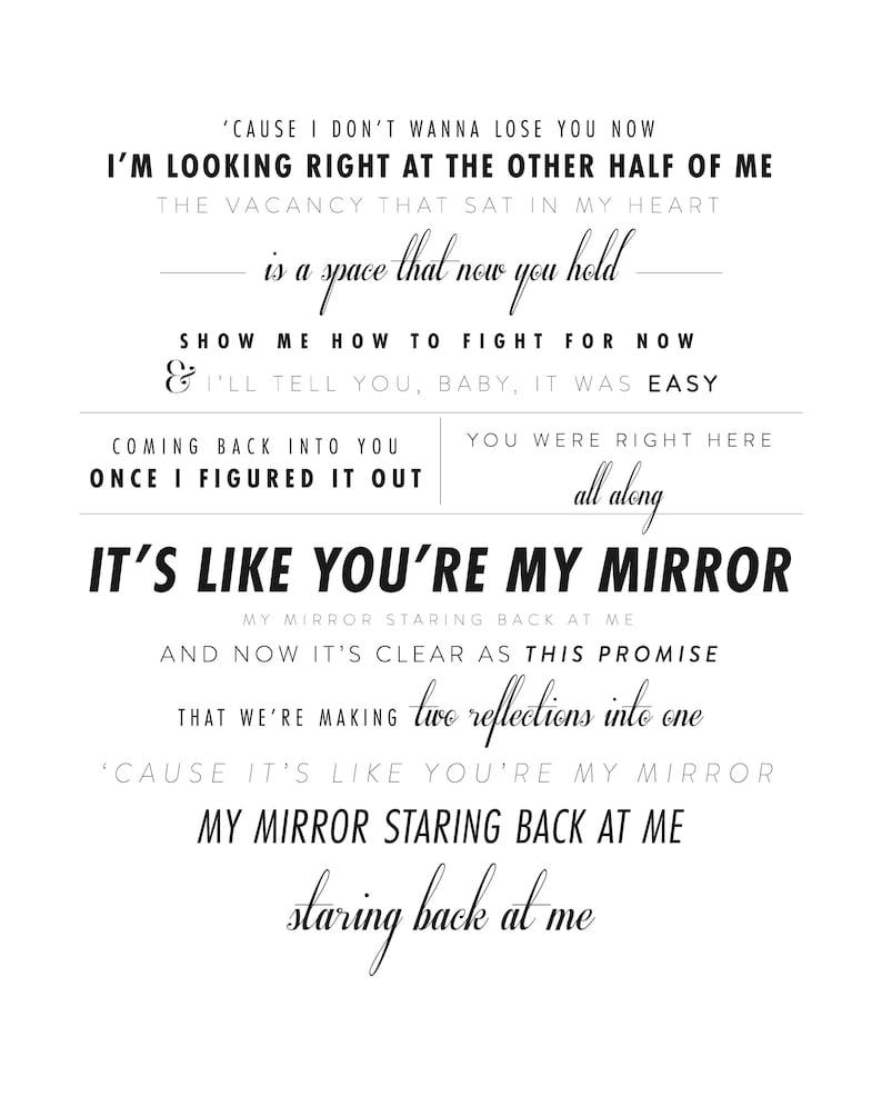 Justin Timberlake Mirrors Wedding Day Gift Etsy