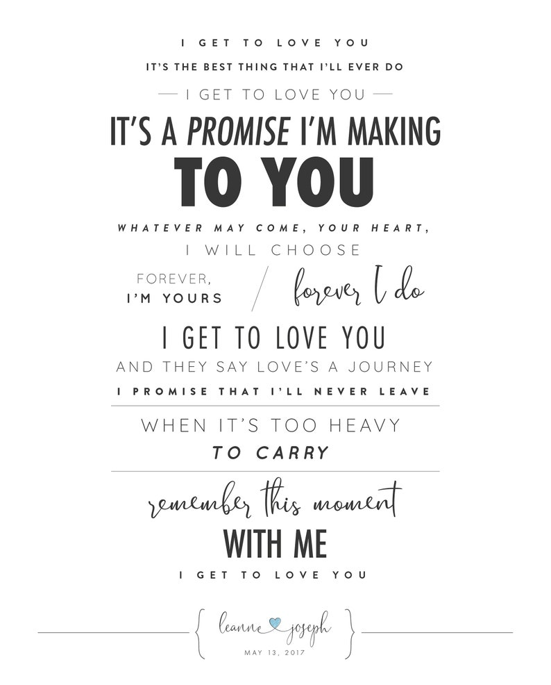 I get to love you lyrics
