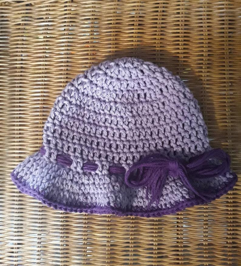 Crocheted 6-9 Months Baby Sun Hat