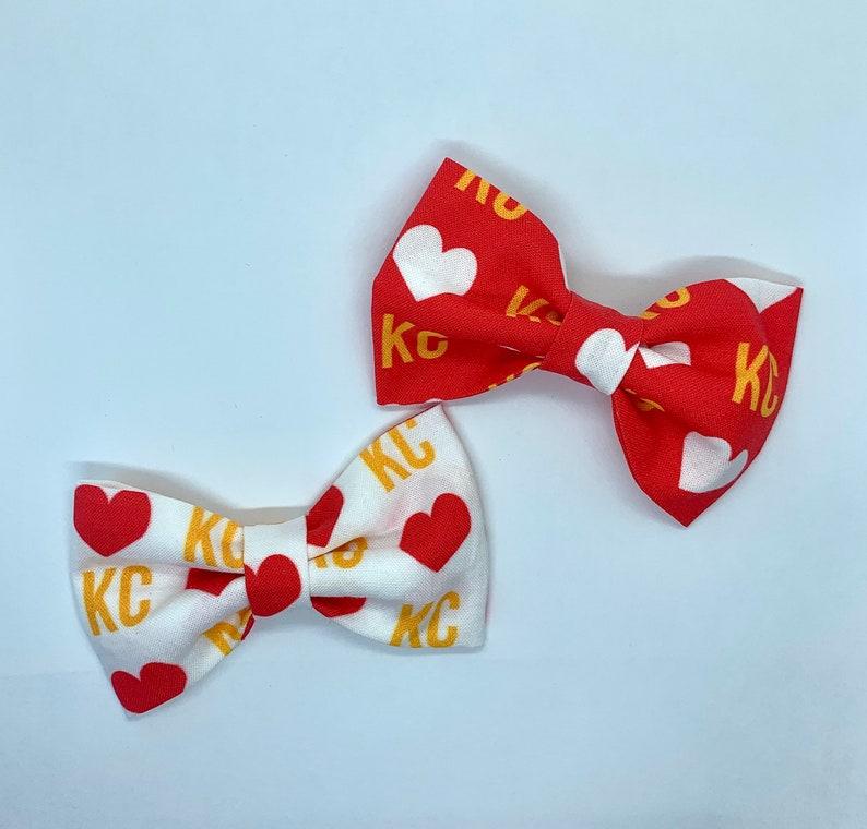 Baby Bow-Toddler Bow-Bow for Girls-Nylon Headband-Hair Clip KC Chiefs Hair Bow-Kansas City Hair Bow-Kansas City Chiefs Hair Bow