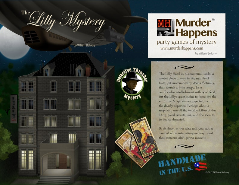 Murder Happens: Steampunk seance The Lilly Mystery Party image 1