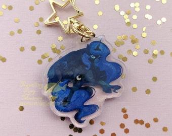 Moon Princess Alicorn Cute Holographic Keychain  Inspired Parody Mane 6