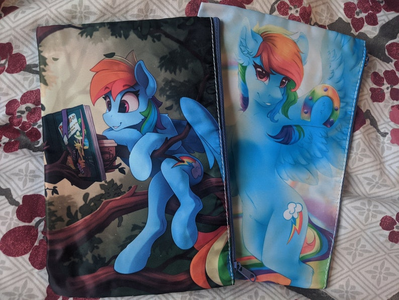 Rainbow Dash Zip Bag Two Sided with Interior Pocket My Little image 0