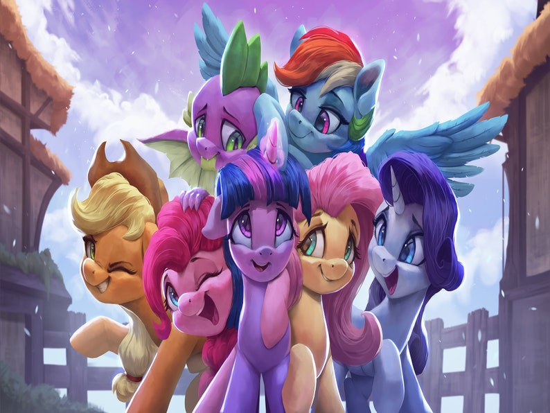 IN STOCK: Mane 6 Fleece Blanket  My Little Pony Mane 6 image 0