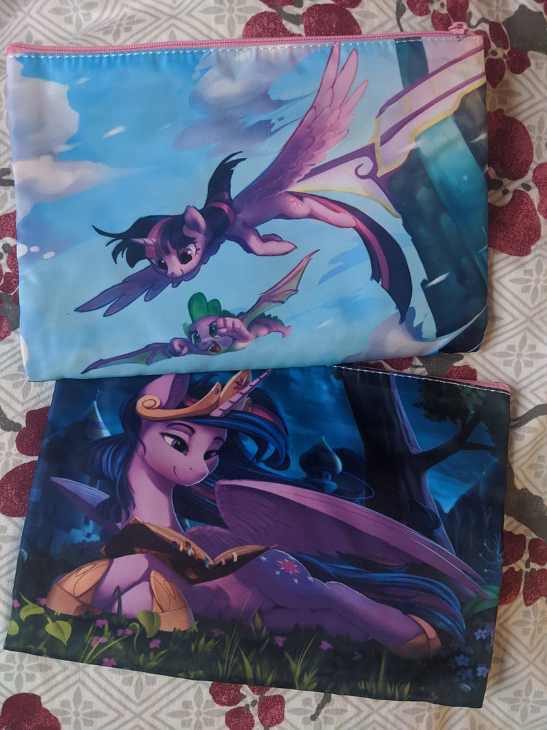 Twilight Sparkle Zip Bag Two Sided with Interior Pocket My image 0