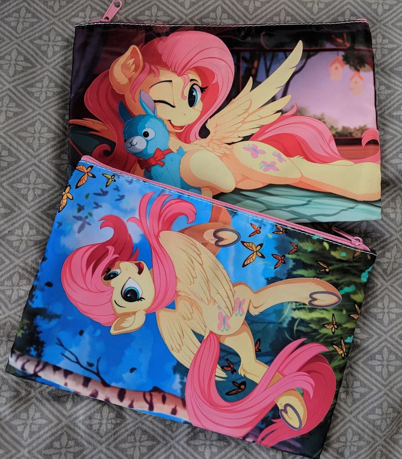 My Little Pony Two Sided Zip Cosmetic Bag with Interior Zip image 0