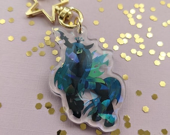 Bug Queen Holographic Keychain  Inspired Parody My Small Horses
