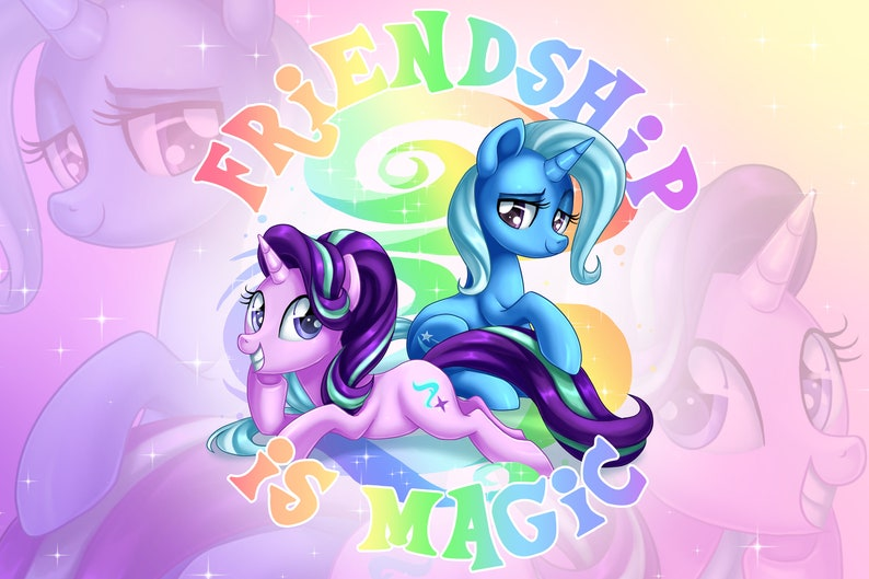 IN STOCK: Starlight Glimmer Minky Fleece Blanket My Little image 0