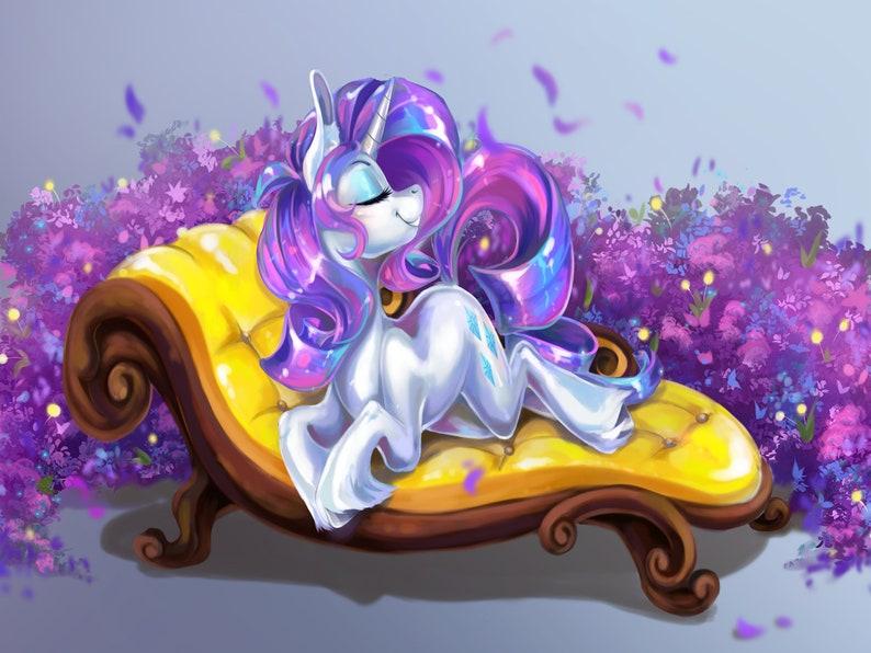 IN STOCK: Rarity Minky Fleece Blanket My Little Pony Mane6 image 0