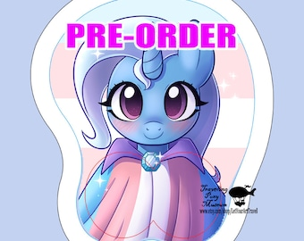 PRE ORDER: Trix Is Trans Support 3D Wrist Rest Mousepad   Parody Brony Pegasister
