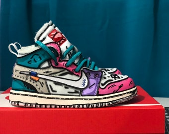 Custom Hand Painted Jordans 13aa74123