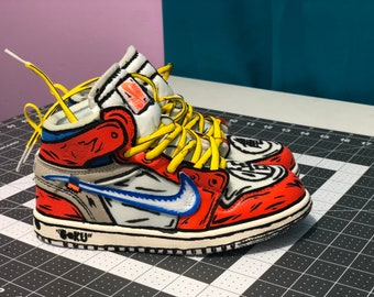 ac550bce592 Off White inspired Goku shoes