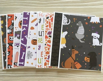 Happy Halloween ~ Handmade Note Cards Blank A2 Stationery ~ PinkPeppermintShoppe Set of 3 Greeting Cards