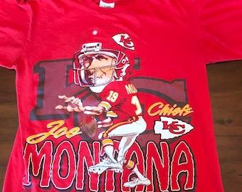 online retailer 09631 38c69 Joe montana chiefs | Etsy
