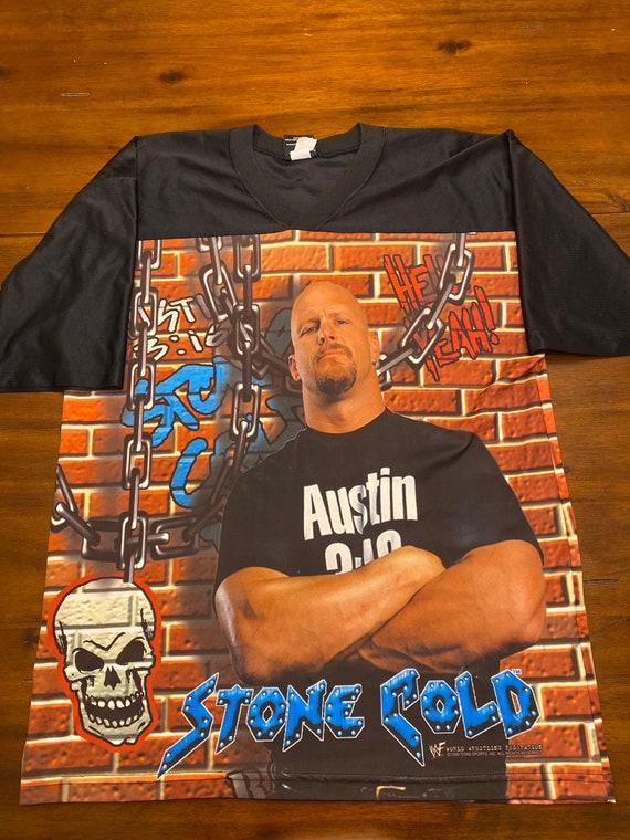 Vintage Stone Cold Steve Austin jersey. Size XL
