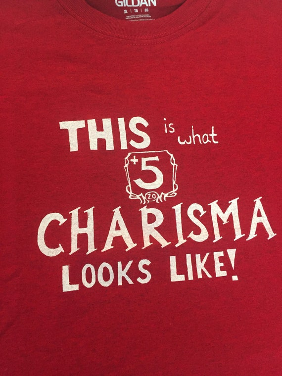dnd dungeons and dragons 5 charisma shirt funny d d shirt etsy