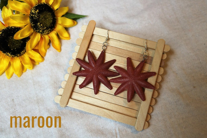 beachbeachcore starfish and sea urchin earrings hook and clip on options available