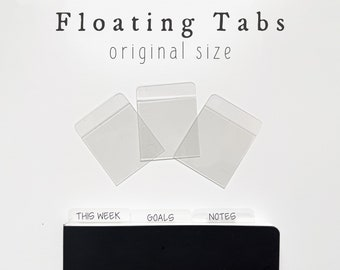 Floating Tabs for Planners and Notebooks - Sets of 3, 6, or 12