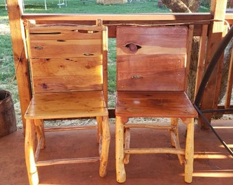 Handmade Rustic Juniper Chair