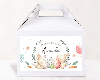 Easter Treat Box,Personalized Girl #22 Easter Treat Box,Favor Box,Easter Box