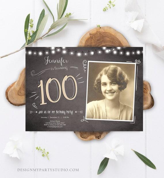best of 100th birthday invitation and 69 100th birthday invitation designs