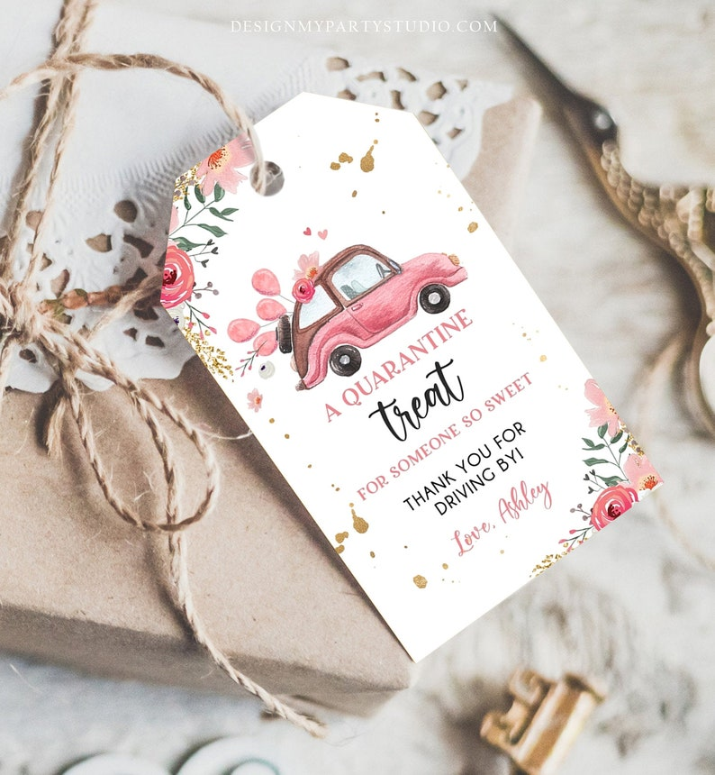 Editable Drive By Favor Tag Drive Through Baby Shower ...