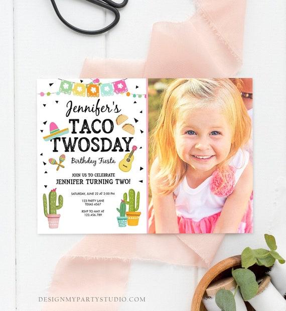 Editable Fiesta Invite Fiesta Birthday Invitation Fiesta First Birthday Invitation Instant Download Taco Twosday Corjl Template