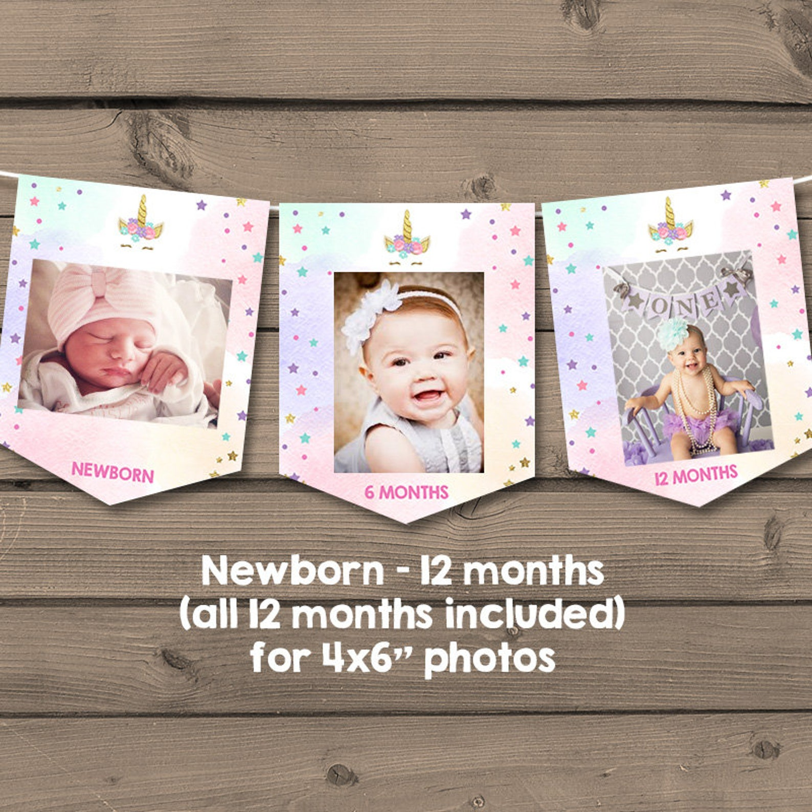 Printable Unicorn Photo Banners