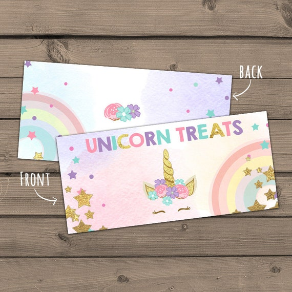 graphic about Printable Treats named Printable Take care of Bag toppers Unicorn Birthday Unicorn To start with
