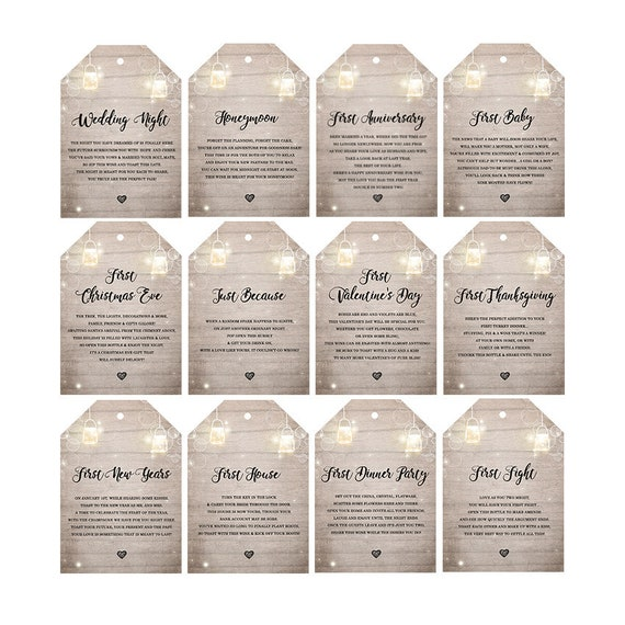 Wedding Milestone Tags Milestone Wine Labels Wine Basket Tags Bridal Shower Gift Engagement Gift Wedding Wine Poems Set Of 12 Printable By Design My Party Studio Catch My Party