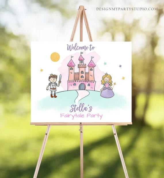 Princess printables, Fairytale printables Princess party sign Castle favors sign Printable fairytale party sign Fairytale favors sign