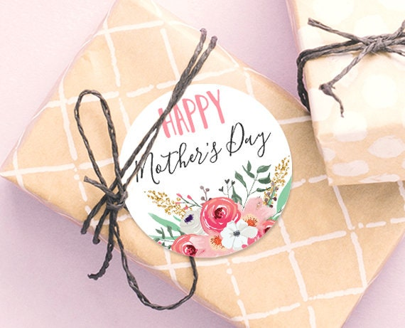 Happy Mother/'s Day Tags Favor Tag Mothers Day Gift Tag Pink Gold Floral Gift Tag Gift Label Mother/'s Day Flower Tag Digital Download