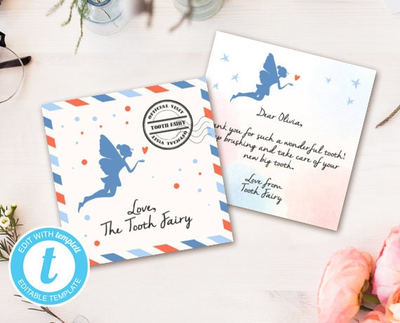 graphic relating to Free Printable Tooth Fairy Letter and Envelope named Enamel fairy letter Teeth fairy envelope Fairy package Milestone