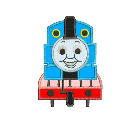 Thomas The Train Applique Design 3 Sizes Instant Download Etsy