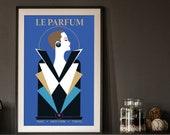 La Parfum, French Poster, Laroche Perfume, Razzia Clandestin Inspired, Retro Posters, Vintage Prints, Vintage Advertising, Wall Decor