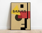 BAUHAUS Exhibition Poster - Printable Wall Art, Classic Advertising Print, Vintage Elegant Poster, Digital Download