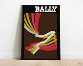 Bally 1976 Poster Replica | Retro Posters | Vintage Prints | Printable Wall Art | Vintage Advertising | Vintage Art Prints | Wall Decor