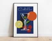 Cocktail Time Vintage Poster | Retro Posters | Vintage Prints | Printable Wall Art | Vintage Advertising | Vintage Art Prints | Wall Decor