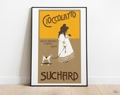 Vintage Cioccolato Suchard 1905 Retro Posters | Vintage Prints | Printable Wall Art | Vintage Advertising | Vintage Art Prints | Wall Decor