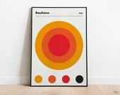 BAUHAUS 1923 Circles Poster - Printable Wall Art, Classic Advertising Print, Vintage Elegant Poster, Digital Download