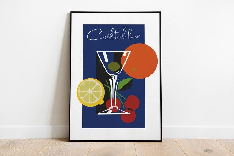 Cocktail Time Vintage Poster  Retro Posters  Vintage Prints image 1