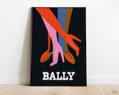 Bally Legs Noir 1979 Poster | Retro Posters | Vintage Prints | Printable Wall Art | Vintage Advertising | Vintage Art Prints | Wall Decor