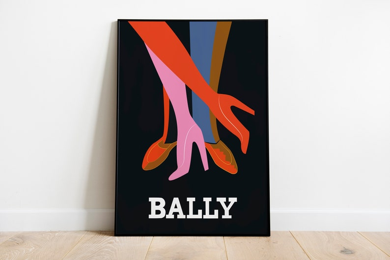 Bally Legs Noir 1979 Poster  Retro Posters  Vintage Prints  image 1