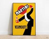 Vintage Martini Vermouth | Retro Posters | Vintage Prints | Printable Wall Art | Vintage Advertising | Vintage Art Prints | Wall Decor