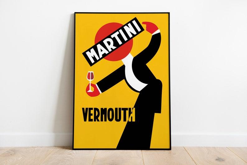 Vintage Martini Vermouth  Retro Posters  Vintage Prints  image 1