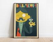 Mon Compagnon 1923 Poster | Retro Posters | Vintage Prints | Printable Wall Art | Vintage Advertising | Vintage Art Prints | Wall Decor